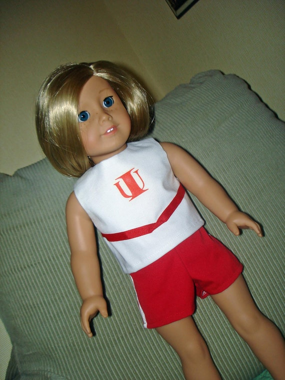 American Girl Three Piece Indiana Cheerleading Outfit by Sewsweetdaisy