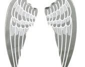 A47 2 x Large Angel Wings Laser Cut Acrylic Pendants