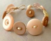 Vintage Button Bracelet Blush Pink