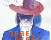 Original Watercolour Fashion Illustration - Rebel Rebel