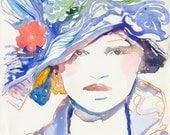 Original Watercolour Fashion Illustration - Runwayink 1