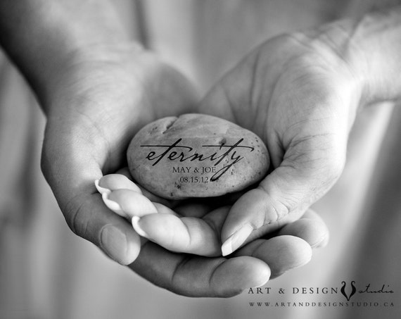 Engagement Gift, Wedding Gift Personalized, Wedding Guest Book Alternative, Names on Stone, Couples Gift, Wedding Portrait, Wedding Print