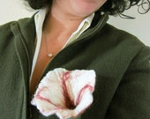 felted flower brooch -Uptown Girl-