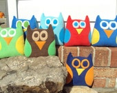 Owl Tooth Pillow - Tooth Fariy Pillow - Owl Gift Card Holder
