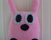 Stuffed Bunny Ready to ship-Pink Rocker Bunny
