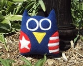 USA Owl - Owlmerica the Owl Plushie - Red, White and Blue
