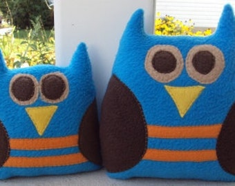 Plush Brother Owl Pillows - Owls for Him - Little Brother Big Brother Gift