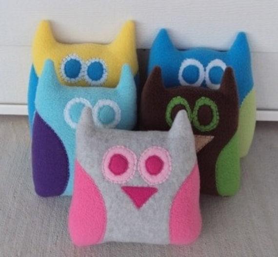 Custom Owl Pillow - Plush Owl - Owl Plushie