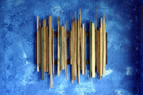 ON SALE - reclaimed wood wall art - historic materials