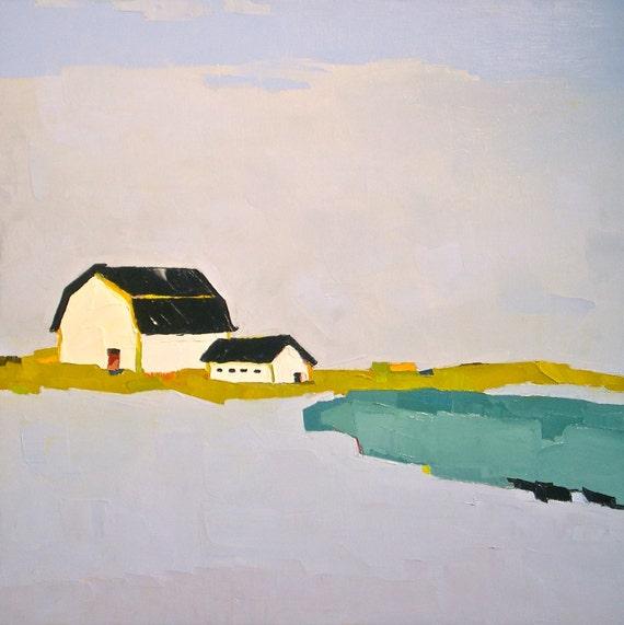 Landscape Painting- Promise of Living - 24x24 Original Oil Painting- Barn, Farm, Scenic