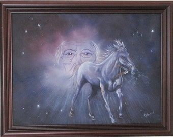 THUNDER BEING.. Original oil painting.. Native American