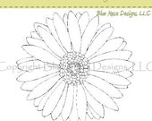 Gerbera Daisy  - Digital Art Stamp