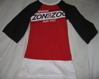 University of Arizona T Shirt Knit Dress Bear Down!