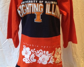 Girl's Dress Fighting Illini T Shirt Dress