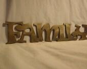 Family Metal Word Art