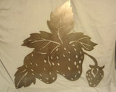 Strawberry Patch in Metal Art