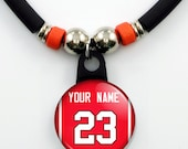 Personalized Basketball chicago Jersey Necklace With your Name and Number, Perfect Gift