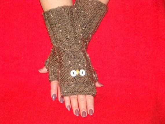 Holiday Sale! Cozy Stylish and Feminine  OWL HAND WARMERS Soft Comfy Warm
