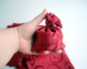 14 pcs 4x5 Red Fabric Jewelry Pouch Small Gift Bags