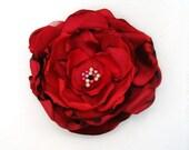 Red Big fabric flower