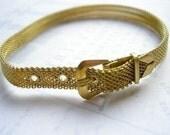 Vintage Raw Brass Mesh Bracelet - Limited Supply
