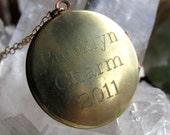 Custom Engraved Name Plate Locket