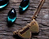 Angry Double Heart Necklace