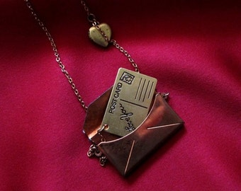 PS I Love You Letter in Envelope Necklace
