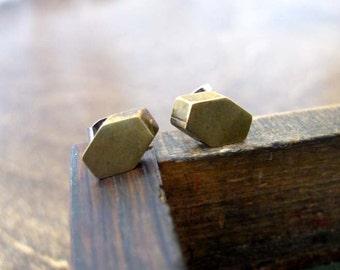 Vintage Hexagon Earring Studs