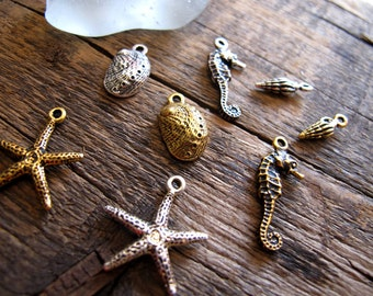 Build Your Own Charm Necklace - Ocean Creature Collection
