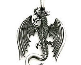 LARGE DRAGON PENDANT Sterling Silver  510-3