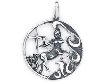 Sagittarius  Zodiac Pendant Sterling Silver 503-9