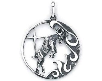 Aries Zodiac Pendant Sterling Silver 503-1