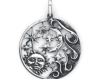 Sun Moon Stars Charm (Sterling Silver) 506-8