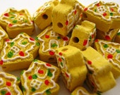 20 Tiny Gingerbread House Cookie Beads