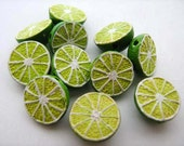 20 Tiny Lime Beads - CB385