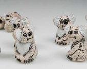 10 Tiny Koala Bear Beads