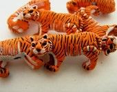 4 Large Tiger Beads - LG128