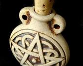 High Fired Bottle Bead - Pentagram - HIFIBOT66