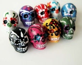 20 Large Sugar Skull Beads - LG600