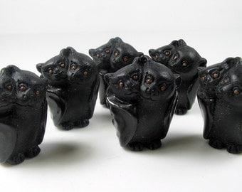 4 Large Bat Family Beads - LG140