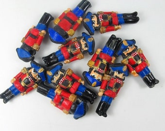 20 Large Nutcracker Beads (blue/red)