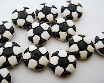 4 Small Soccer Ball Pendants