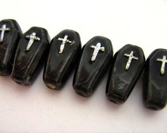 20 Coffin Beads - Peruvian, Ceramic, grave, Christian - CBHIFI524