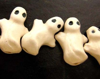 10 Tiny Ghost Beads