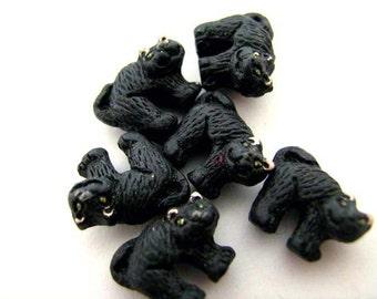 20 Tiny Halloween Cat Beads - CB92