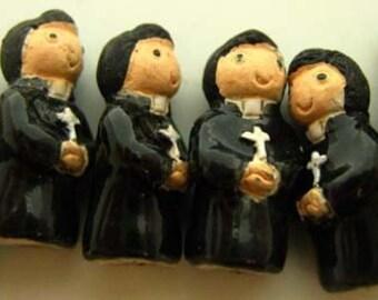 4 Tiny Priest Beads