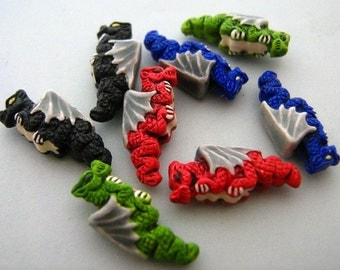 10 Tiny Mixed Dragon Beads - CB50M