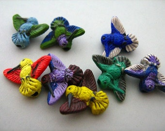 20 Tiny Hummingbird Beads
