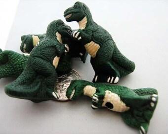4 Large Tyrannosaurus Beads